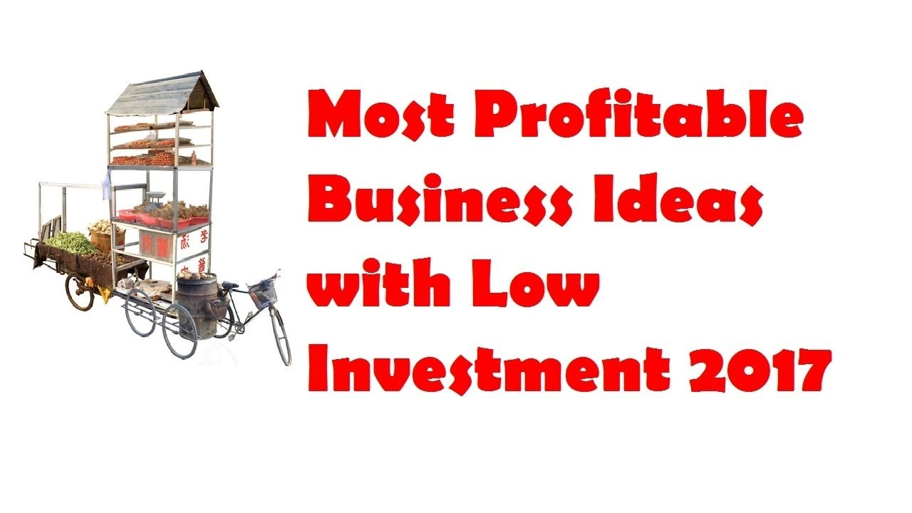 10 Great Business Ideas With Low Investment 30 most profitable business ideas with low investment 2017 youtube 1 2021