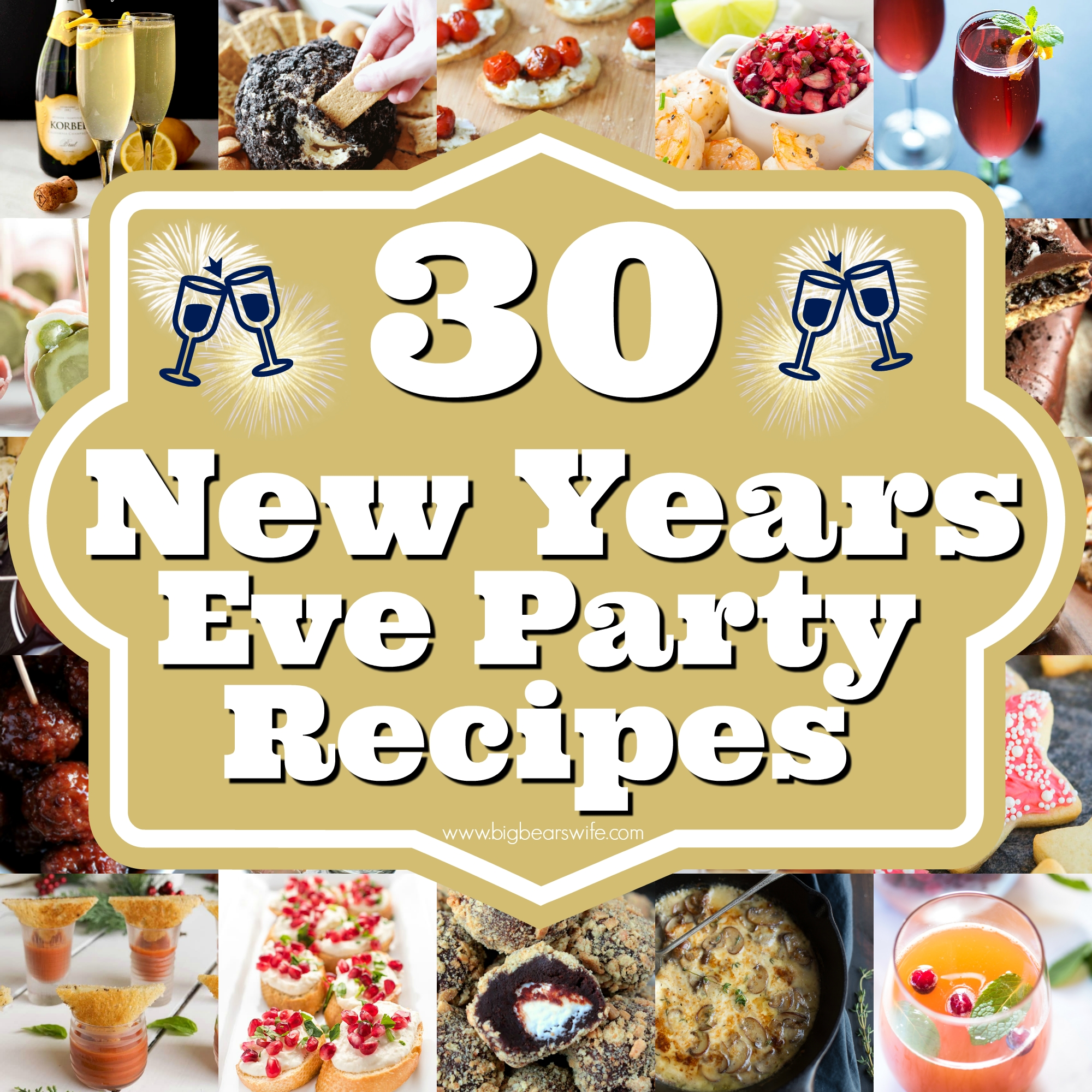10 Stylish New Years Party Food Ideas 30 new years eve party recipes savory ideas sweets and cocktails 1 2021