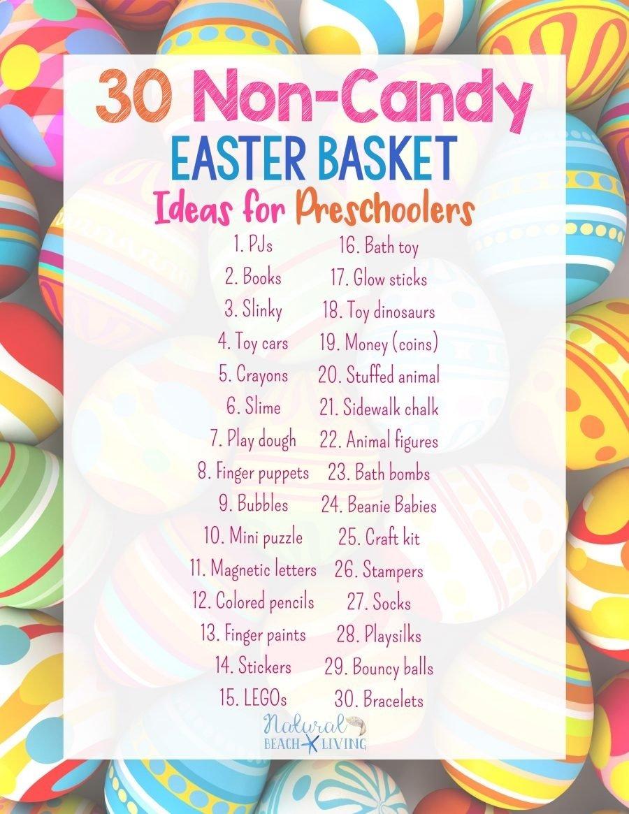 10 Cute Non Candy Easter Basket Ideas 30 perfect non candy easter basket ideas for preschoolers natural 2020