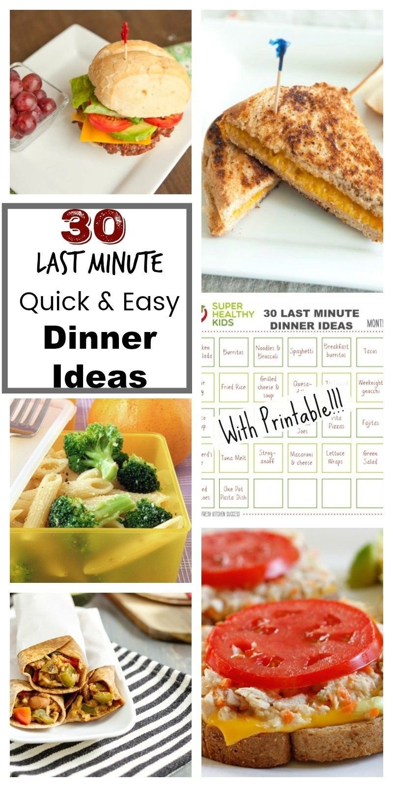 10 Unique Quick And Easy Lunch Ideas 30 quick and easy last minute dinner ideas healthy ideas for kids 3 2020