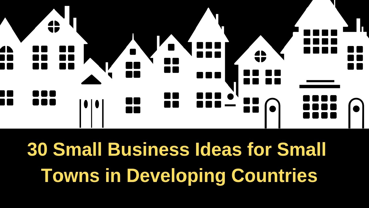 30 small business ideas for small towns in developing countries