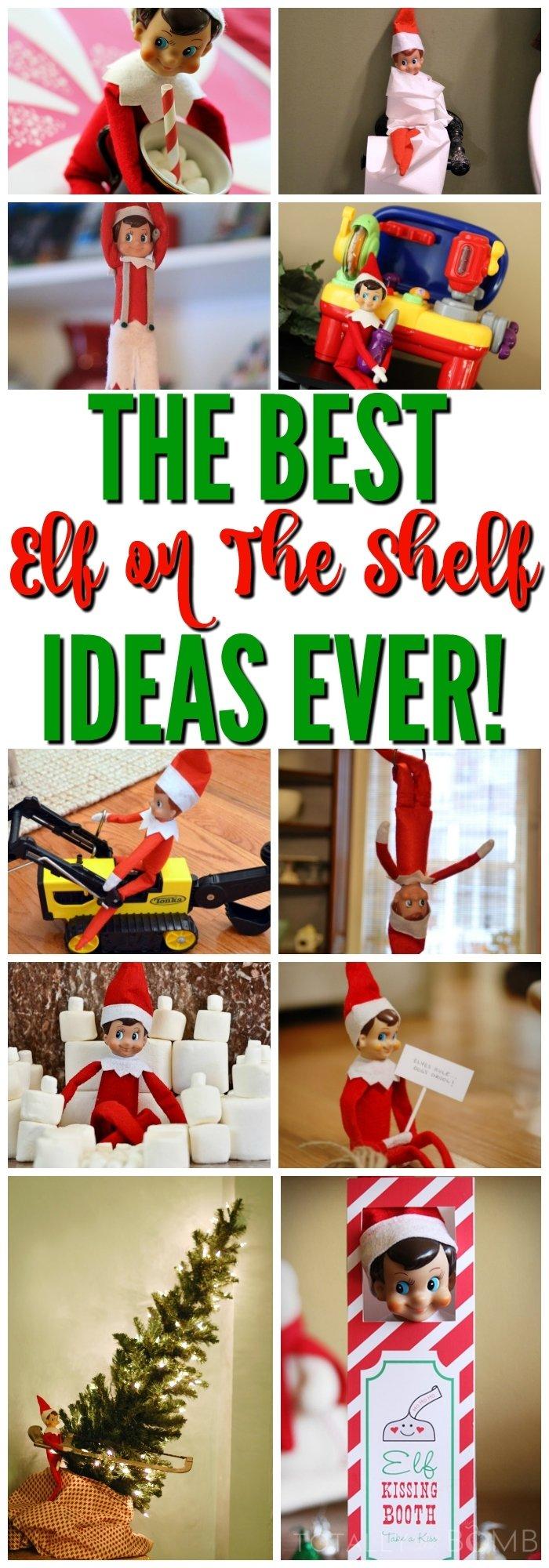 10 Elegant Elf On A Shelf Ideas 30 totally genius and easy elf on the shelf ideas 5