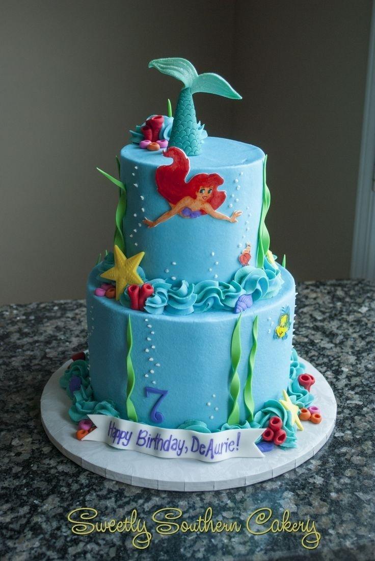 10 Great Little Mermaid Birthday Cake Ideas 308 best disneys little mermaid cakes images on pinterest little 2021