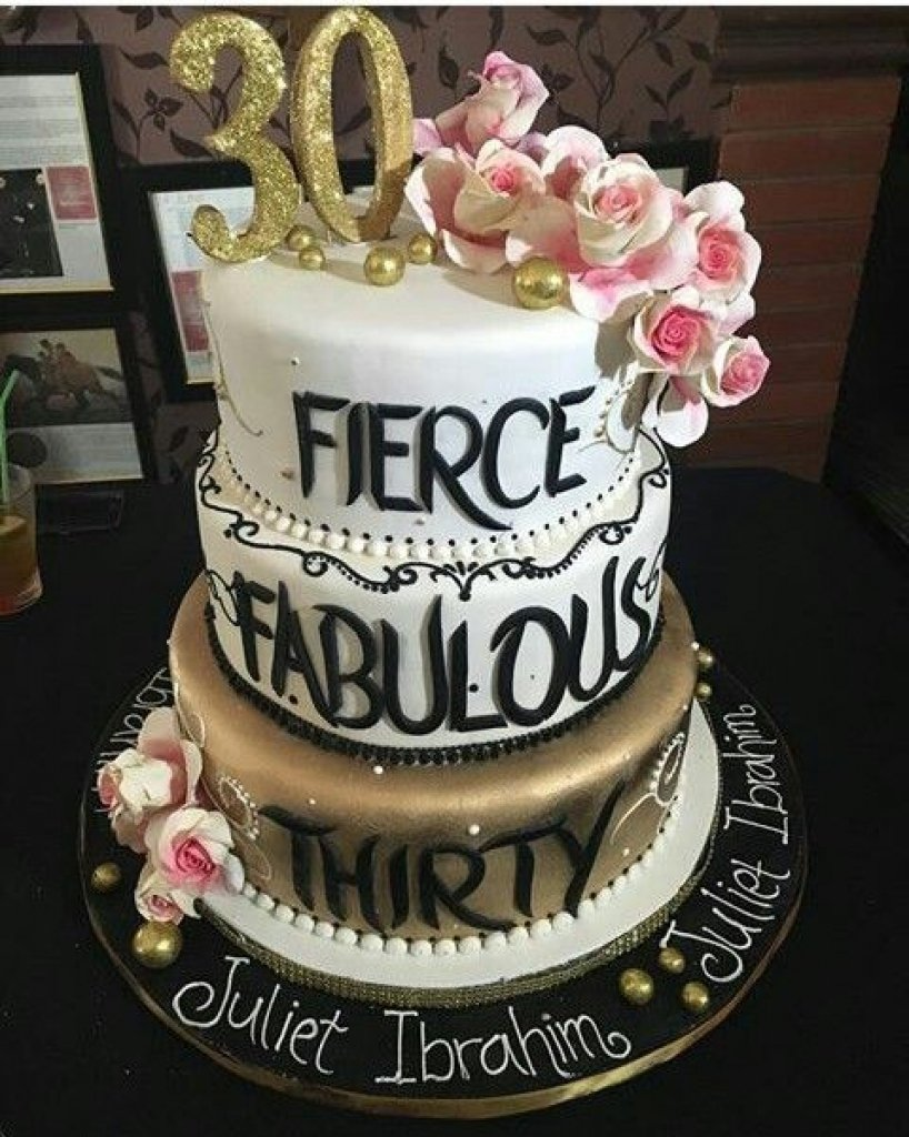 10 Attractive 30Th Birthday Ideas For Her 30th Cake Doulacindy Intended