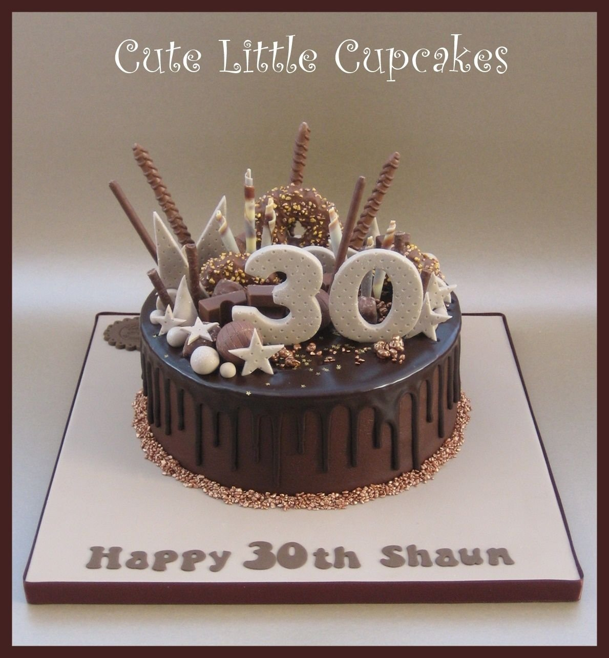10 Gorgeous 30Th Birthday Cake Ideas For Men 30th Chocolate Drip X Tortas Con