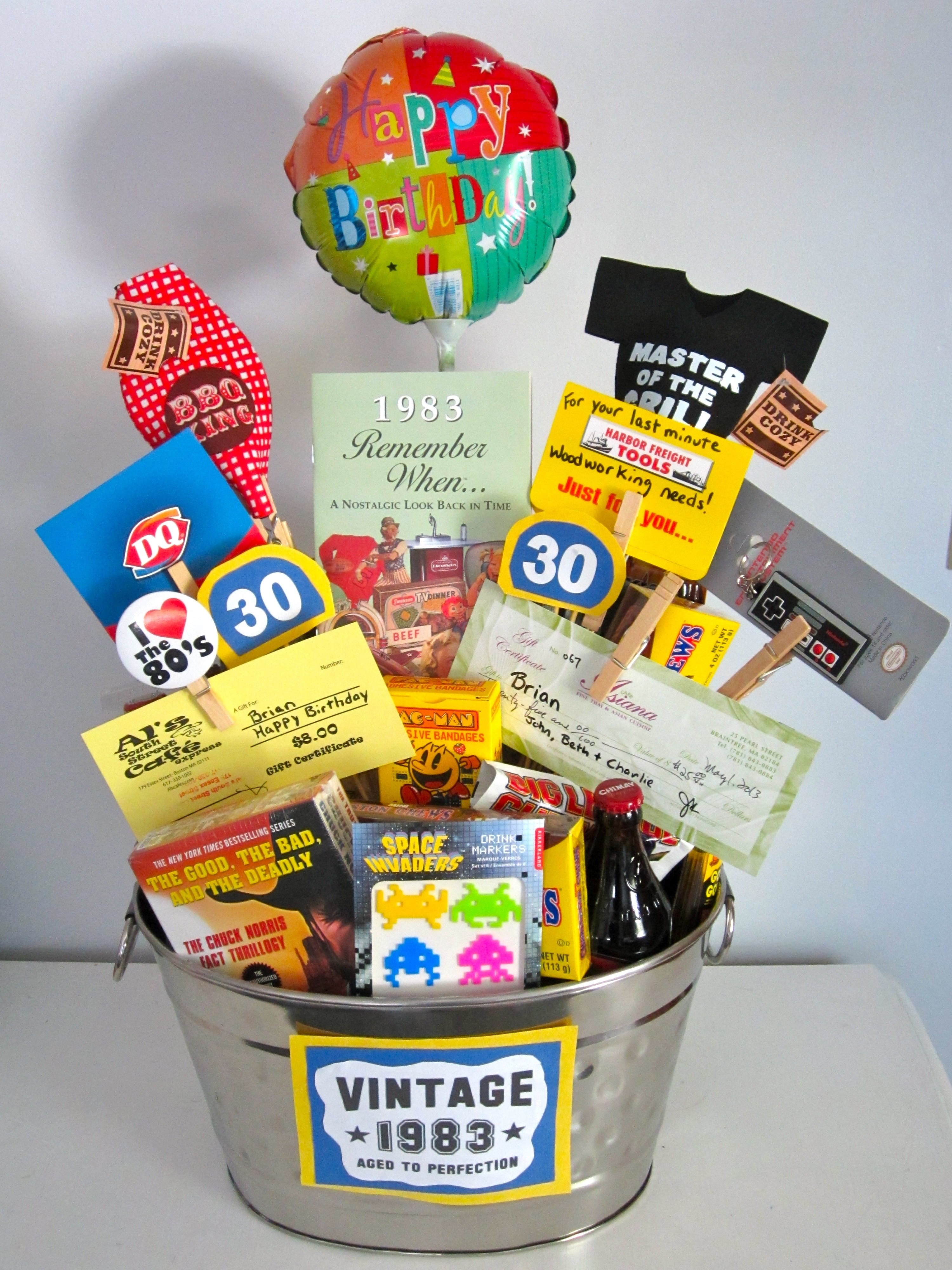10 Fabulous Gift Ideas For A Brother 30th birthday gift i made for my brother filled it with all his 2020
