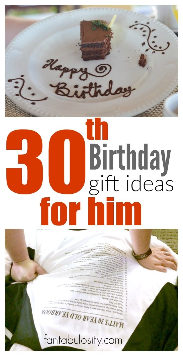 10 Attractive Bday Gift Ideas For Him 30th birthday gift ideas for him 30 birthday birthday gifts and 30th 8 2020