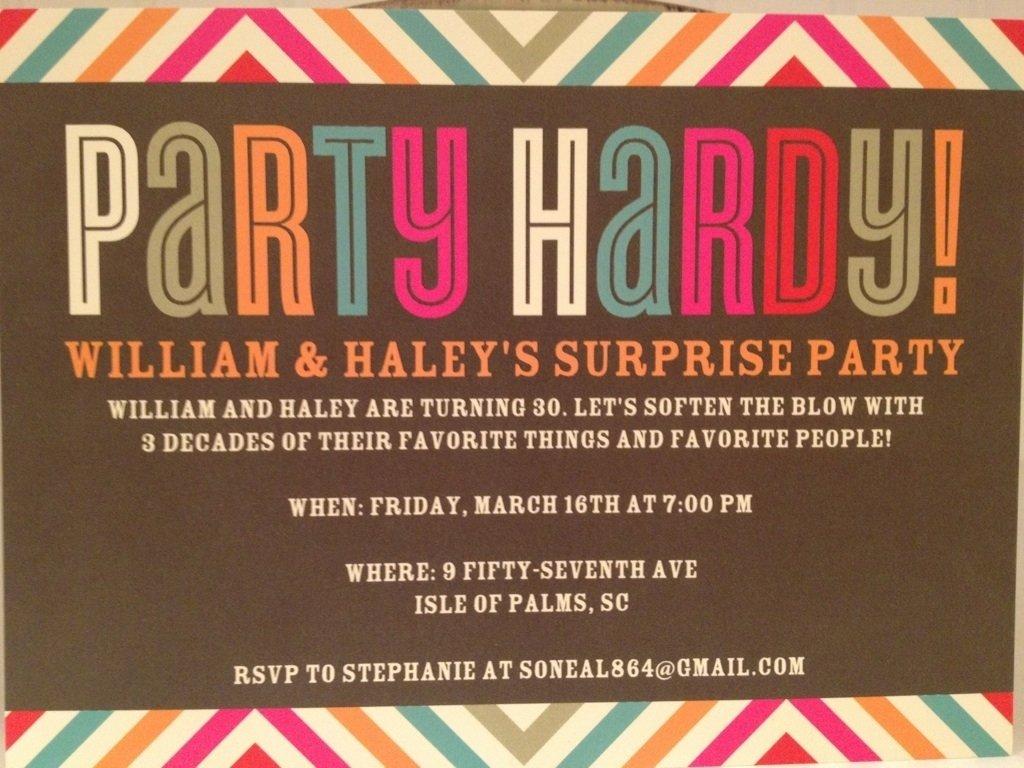 Colorful 30th Birthday Invite Wording Funny Pattern - Invitation ...