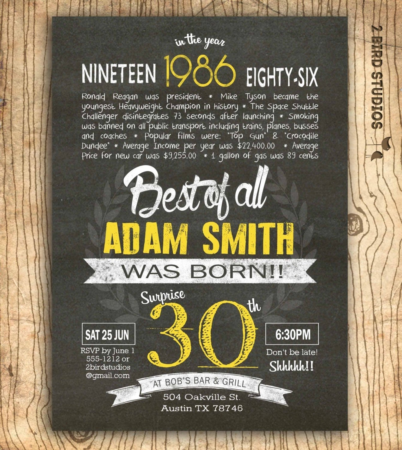 10 Most Recommended Surprise 30Th Birthday Party Ideas 30th birthday invitations wording funny birthday invitations