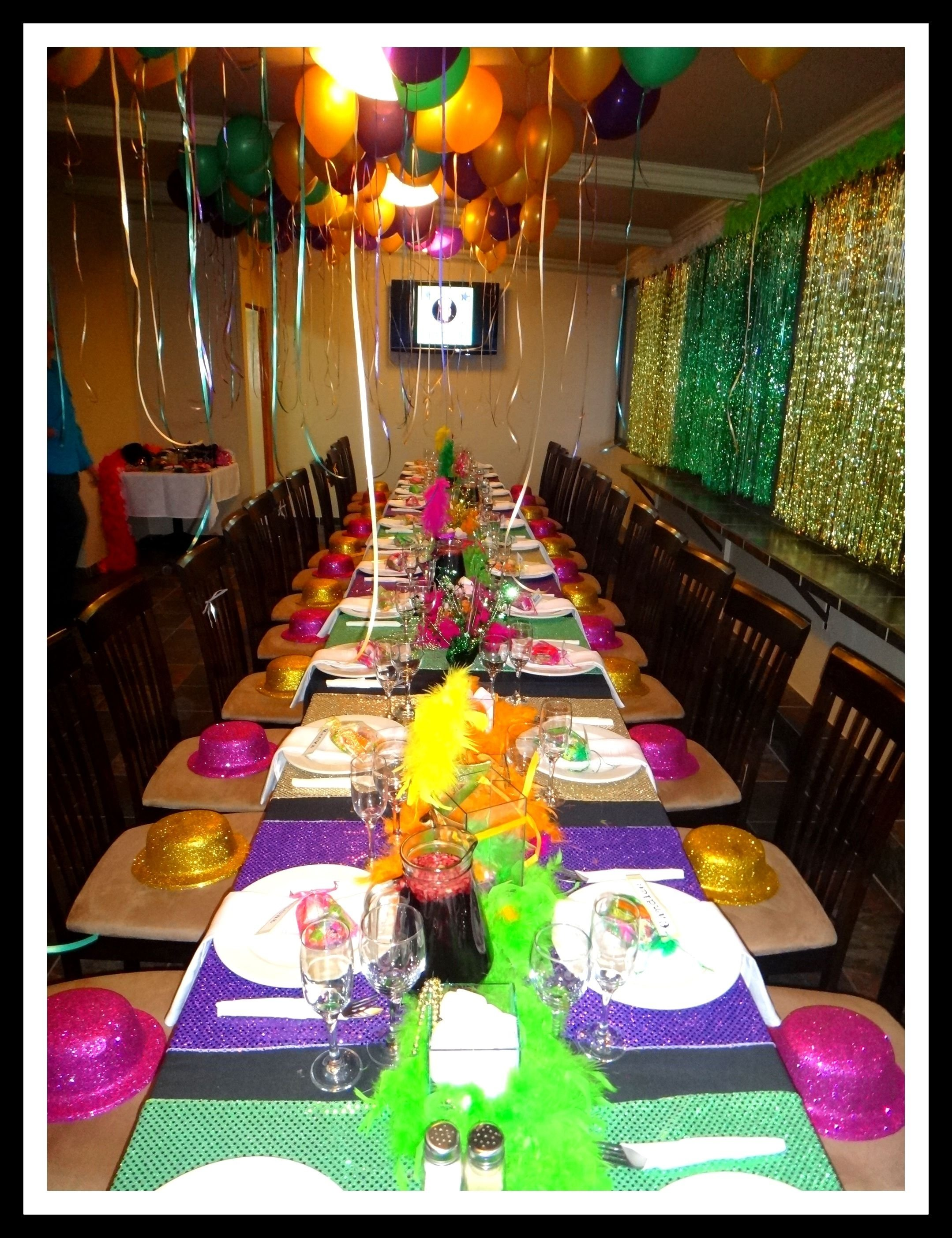 10 Nice Mardi Gras Birthday Party Ideas 30th Theme Tables Birthdays