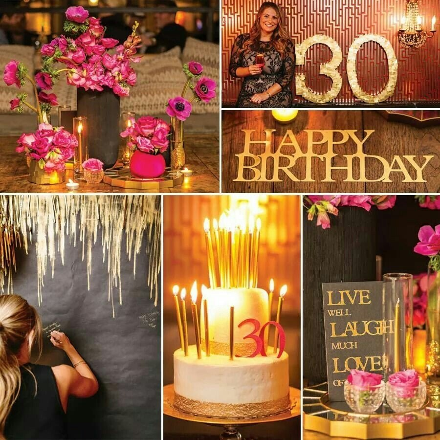 10 Gorgeous 30 Birthday Party Ideas For Her 30th birthday party theme parties pinterest 30th birthday 6