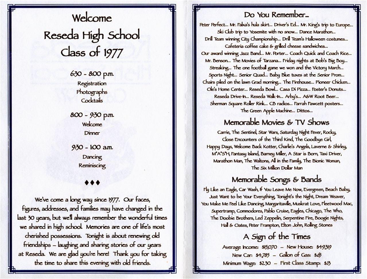 10 Unique Class Reunion Ideas 50 Years 30th reunion program school reunion high school and programming 2020