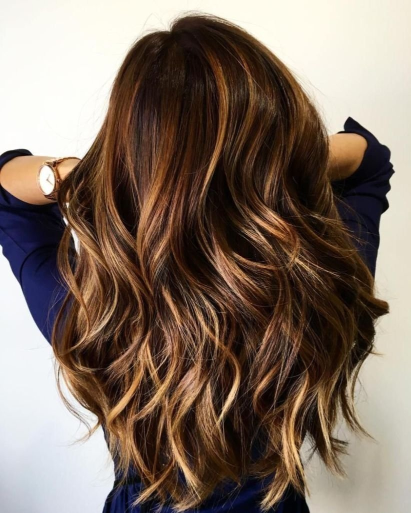 10 Stunning Highlight Ideas For Dark Brown Hair 31 best balayage hair color ideas with blonde brown and caramel 1 2021