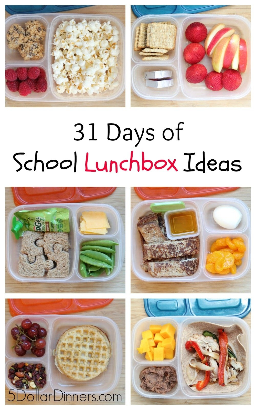 10 Perfect Kids Lunch Ideas For School 31 days of school lunchbox ideas sq 3