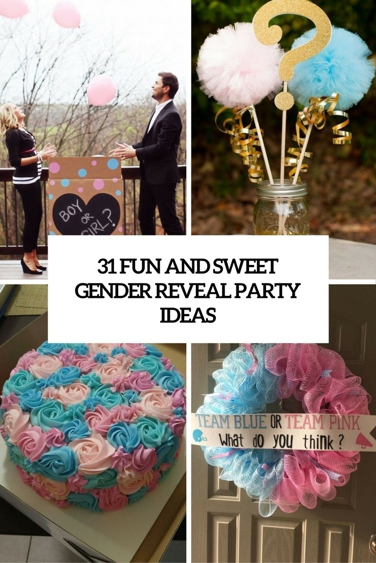 10 Stylish Baby Gender Reveal Photo Ideas 31 fun and sweet gender reveal party ideas shelterness