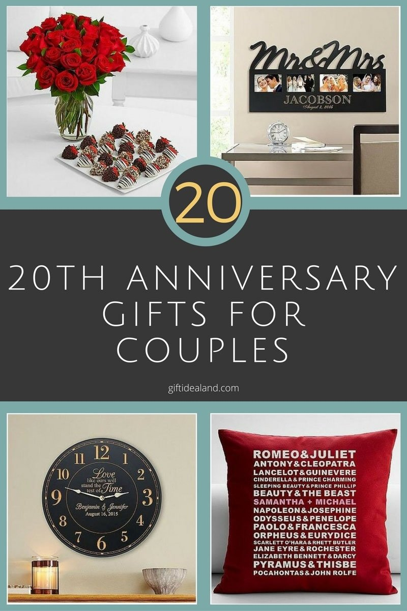 10 Stylish 20 Year Anniversary Gift Ideas 31 good 20th wedding anniversary gift ideas for him her 5