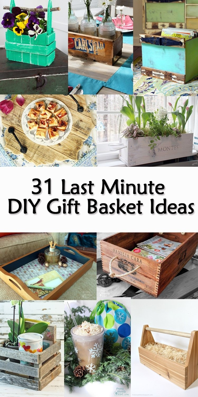 10 Fashionable Ideas For A Gift Basket 31 last minute diy gift basket ideas pretty handy girl 2020