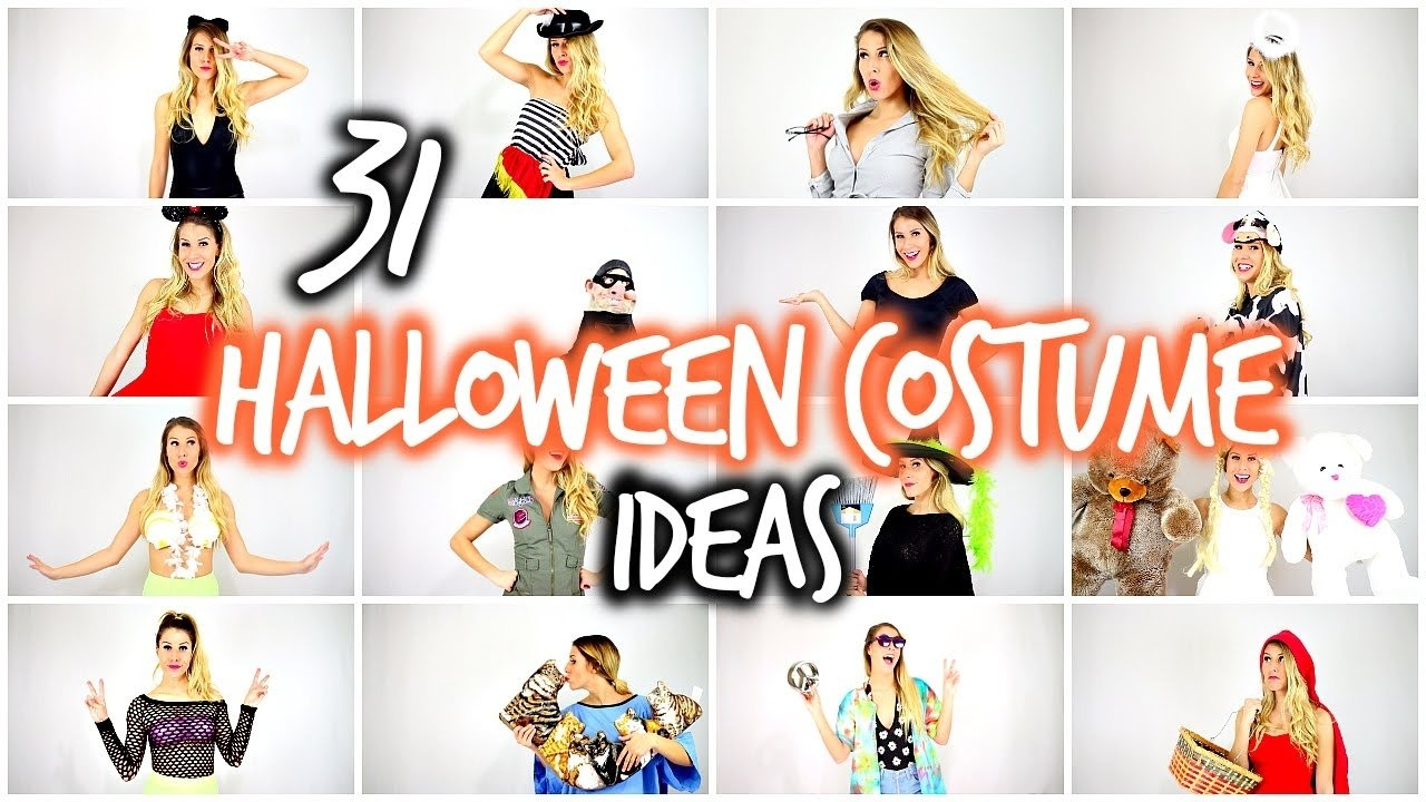 10 Nice Last Minute Halloween Costume Ideas Women 31 last minute halloween costume ideas laura reid youtube 2021