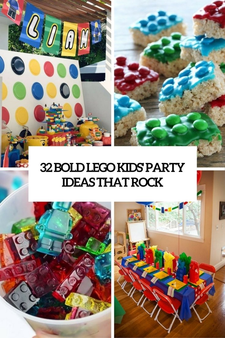 32 bold lego kids' party ideas that rock - shelterness