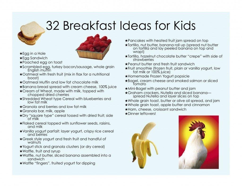 32 healthy breakfast ideas for kids - jill castle
