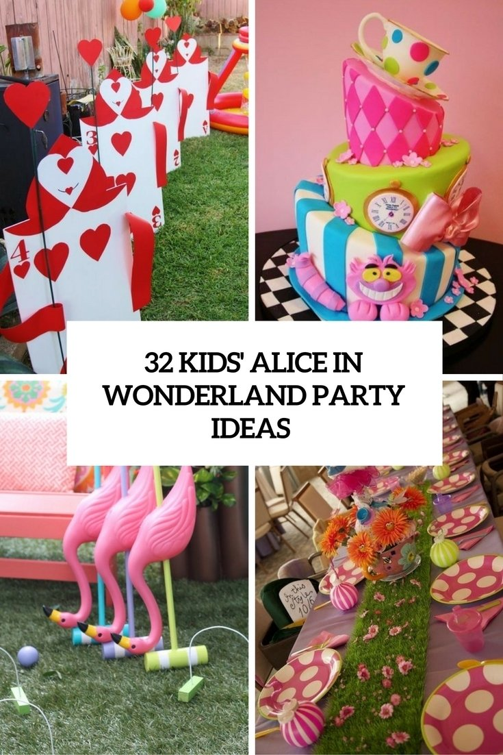 32 kids' alice in wonderland party ideas - shelterness
