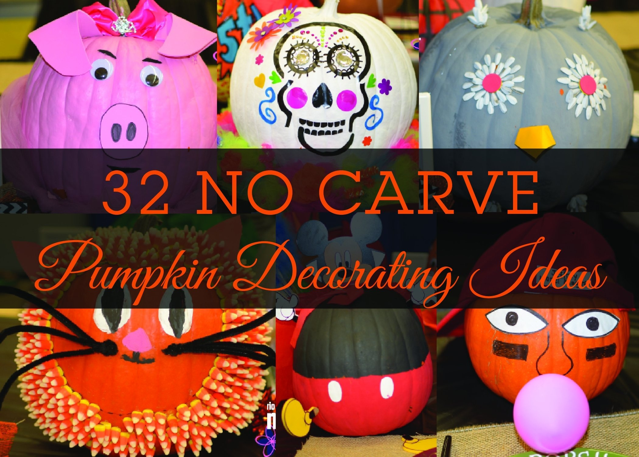 10 Attractive Pumpkin Decorating Ideas Without Carving 32 no carve pumpkin decorating ideas 1 2020