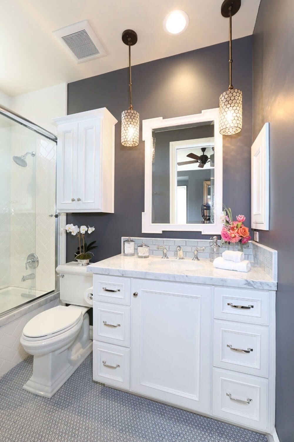 32 small bathroom design ideas for every taste | dark grey, dark and
