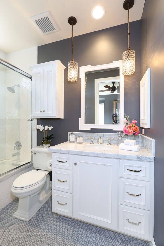 10 Elegant Grey And White Bathroom Ideas 32 small bathroom design ideas for every taste dark grey dark and 2020
