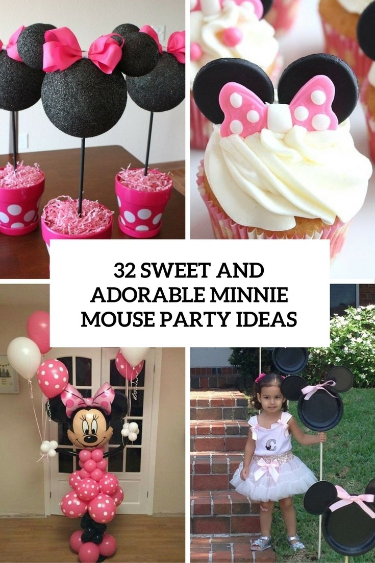 10 Wonderful Minnie Mouse Ideas For Birthday Party 32 sweet and adorable minnie mouse party ideas shelterness 1