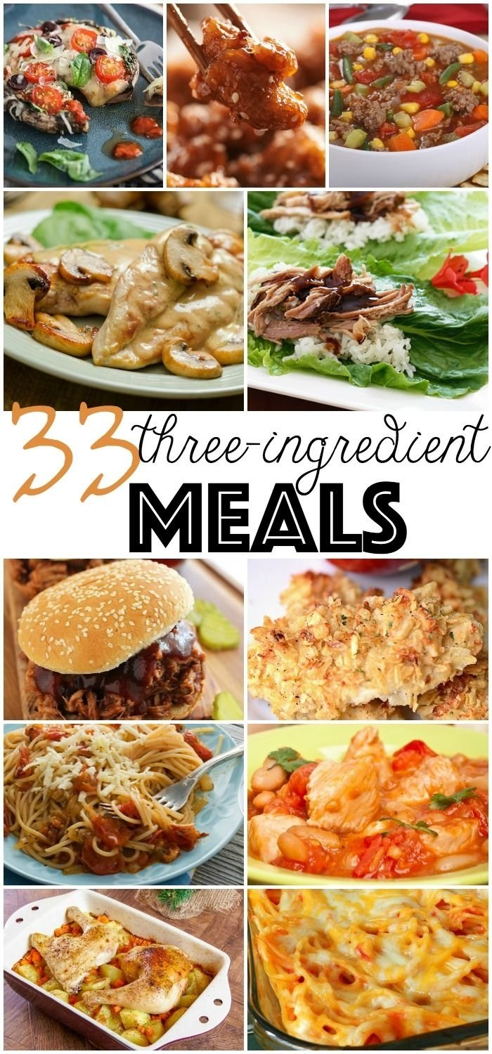 10 Pretty Cheap And Fast Dinner Ideas 33 3 ingredient meals dinners meals and easy 2021