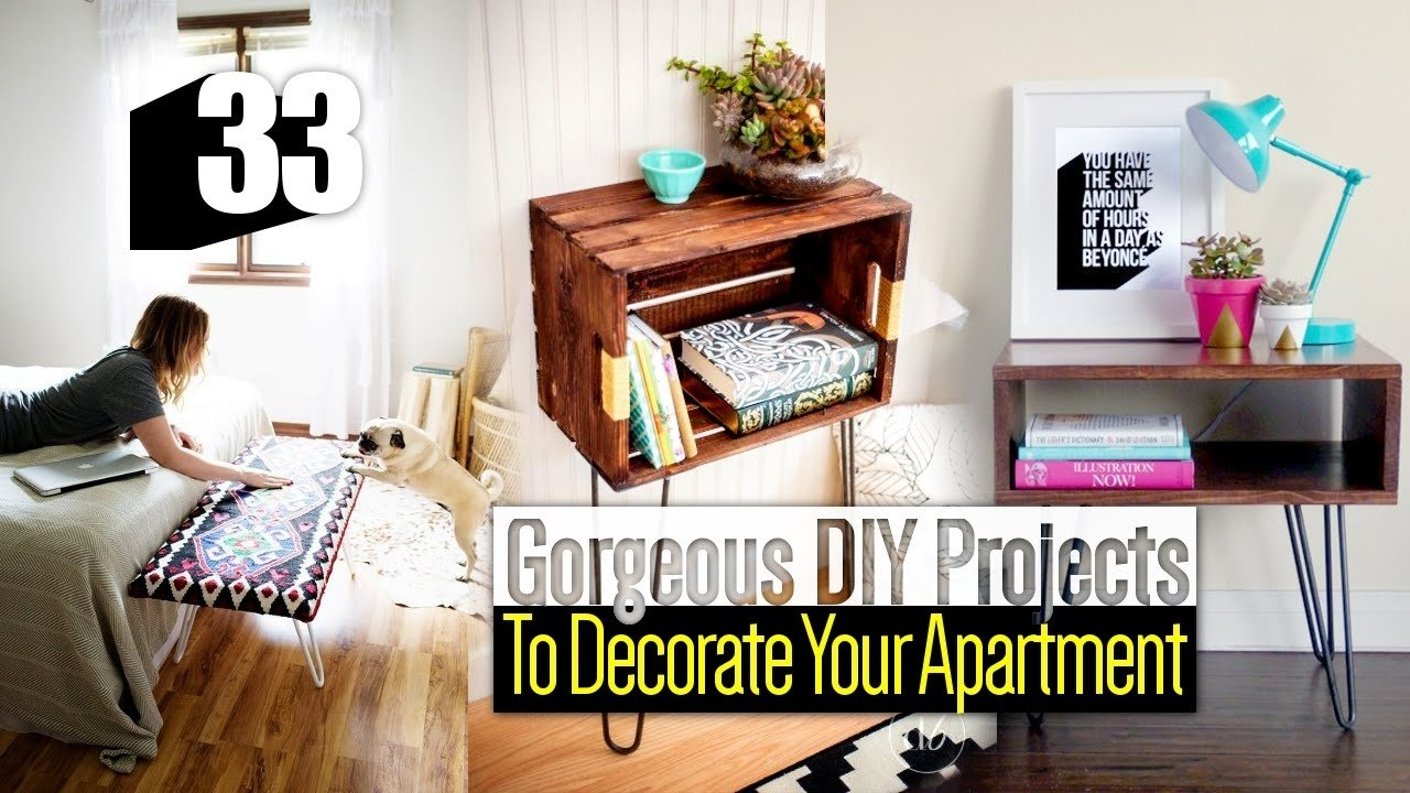 33 diy apartment decor ideas - youtube