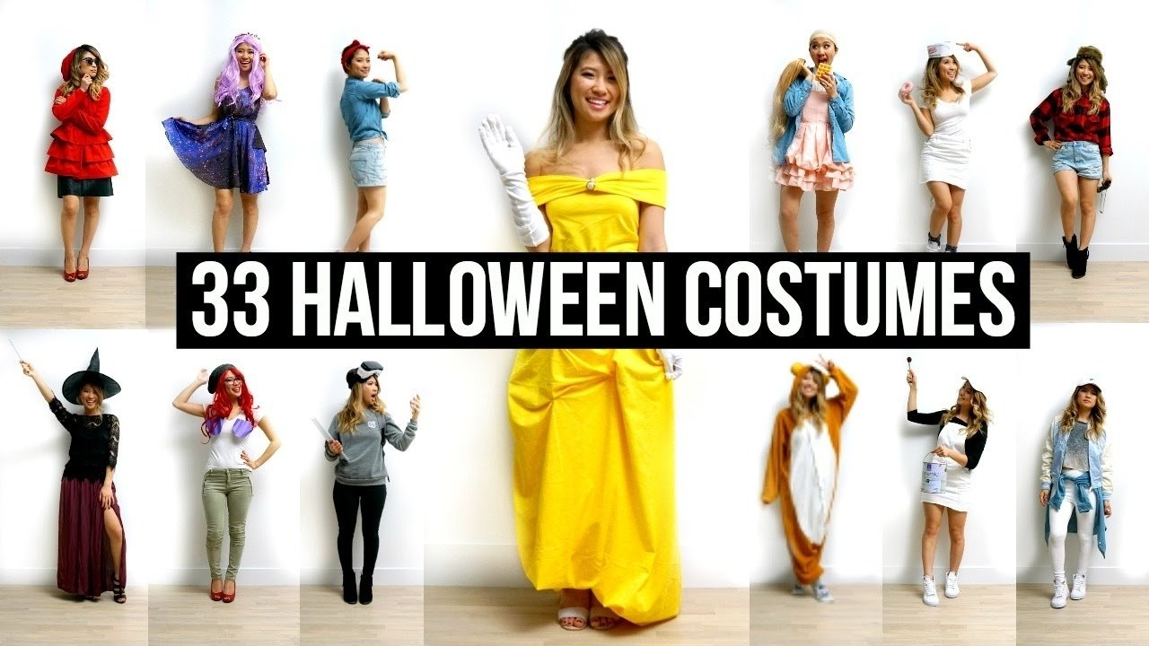 10 Trendy Halloween Costume Ideas From Your Closet 33 last minute diy halloween costumes ideas youtube  sc 1 st  Unique Ideas 2018 & 10 Trendy Halloween Costume Ideas From Your Closet