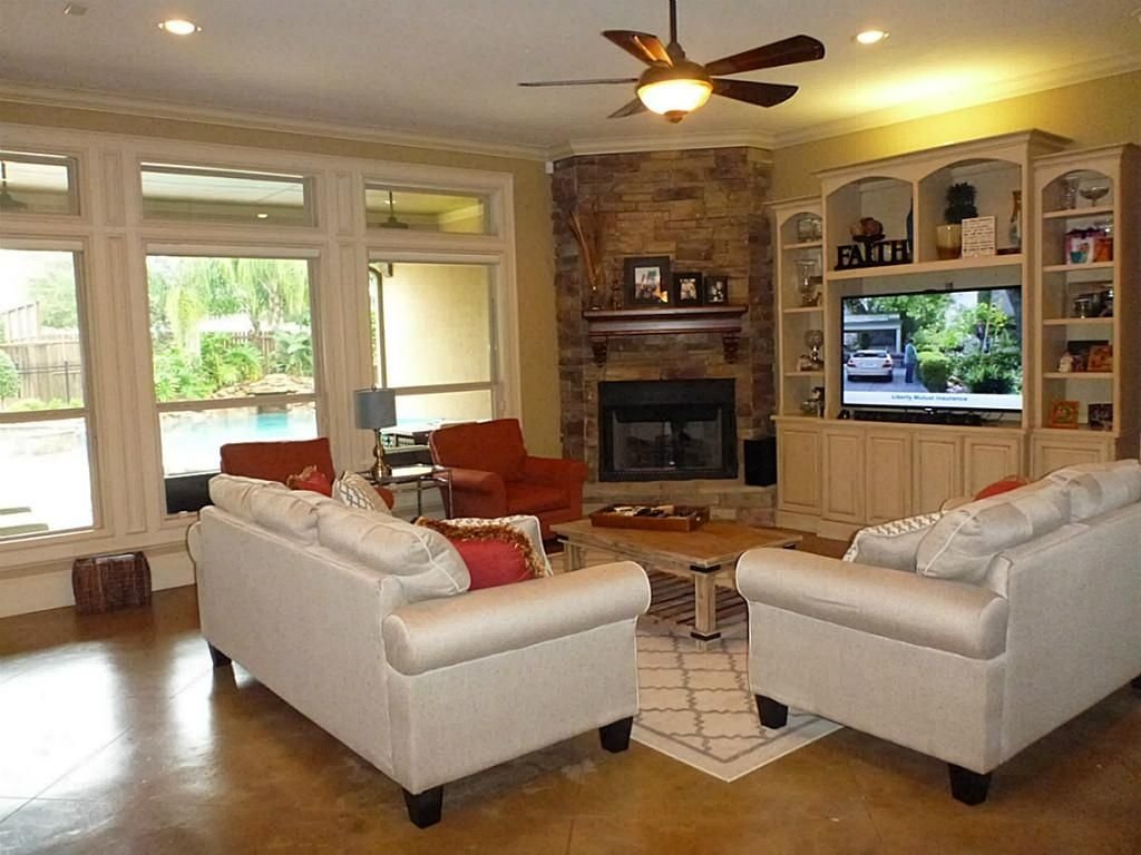 10 Elegant Living Room Ideas With Fireplace 33 modern and traditional corner fireplace ideas remodel and decor 1 2021