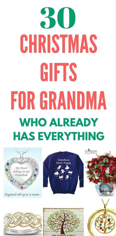 Christmas gifts for grandma ideas