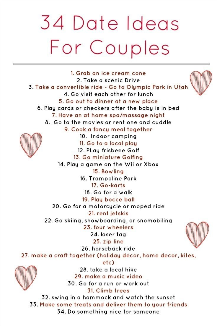 10 Lovable Date Ideas For New Couples 34 weekly date ideas for couples coming from a happily married 4 2020