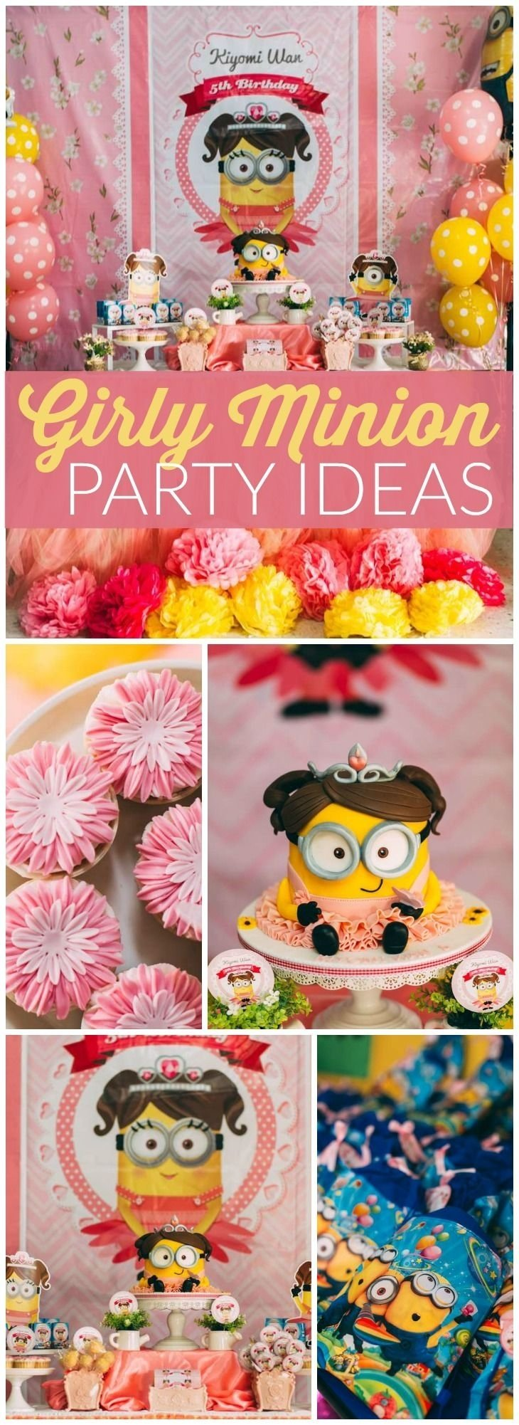 10 Attractive Girls 5Th Birthday Party Ideas 347 best despicable me minions party ideas images on pinterest 1 2020