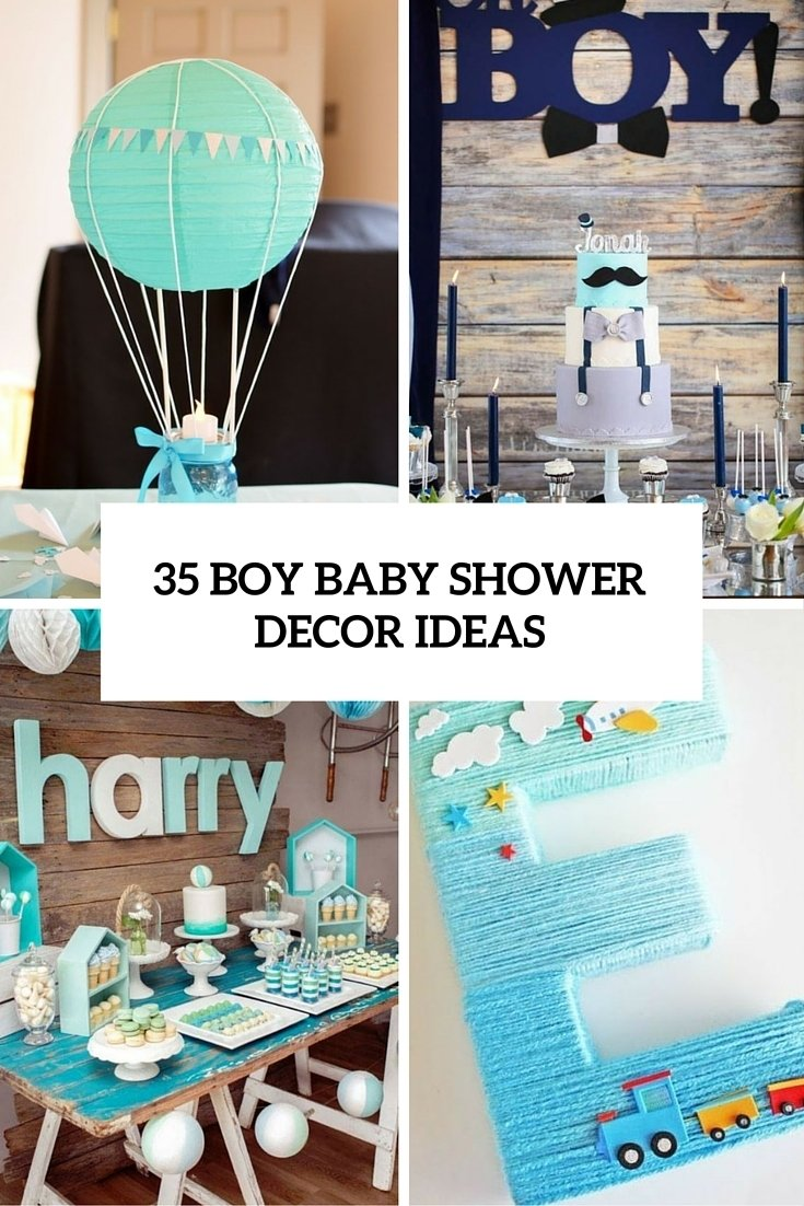 10 Lovely Ideas For Baby Shower Boy 35 boy baby shower decorations that are worth trying digsdigs 8 2020