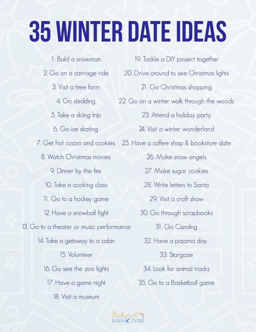 35 fun winter date ideas you can do on a budget - natural beach living