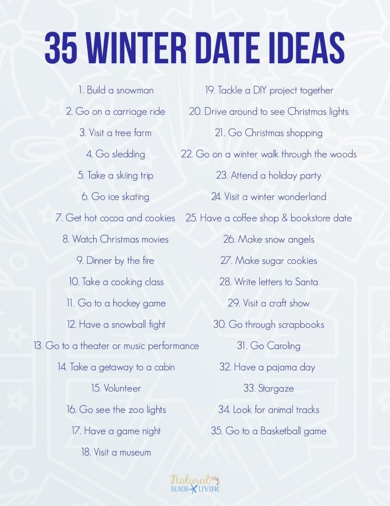 10 Trendy Fun Date Ideas For Teenagers 35 fun winter date ideas you can do on a budget natural beach living 9