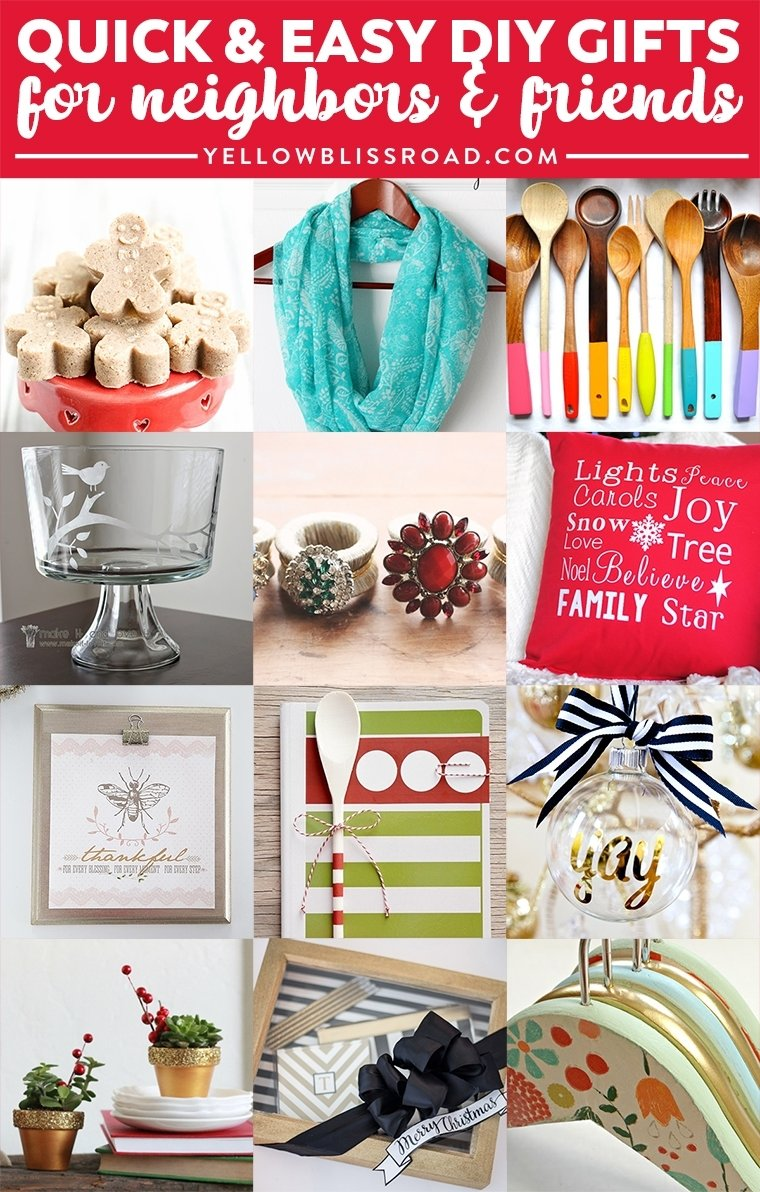 10 Amazing Christmas Present Ideas For Friends 35 gift ideas for neighbors and friends yellow bliss road 3 2020
