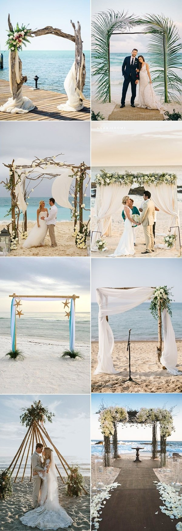 10 Wonderful Ideas For A Beach Wedding