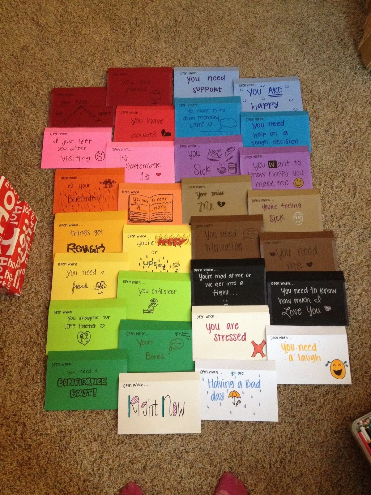 10 Elegant Cute Birthday Ideas For Him 35 inspiring open when letters madeyou gift relationships and