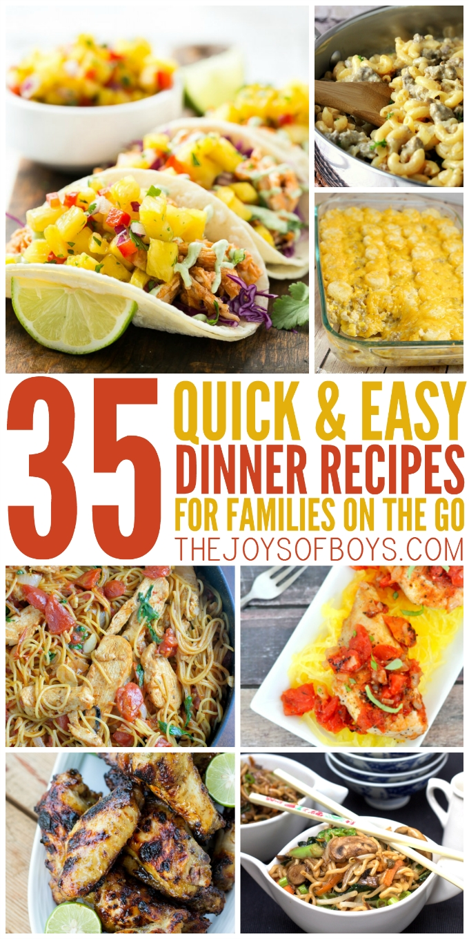 10 Most Recommended Easy Supper Ideas For Families 35 quick and easy dinner recipes for the family on the go 17 2021
