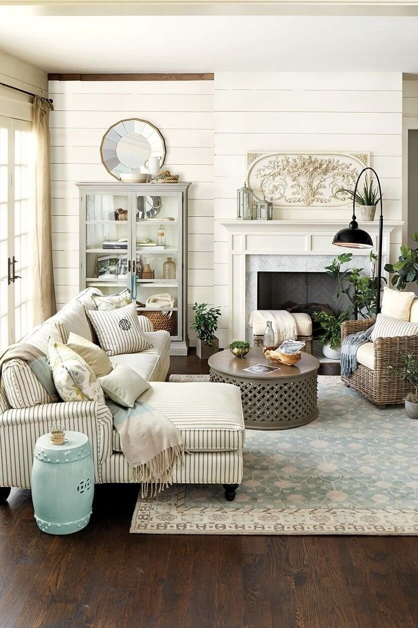 10 Lovable Rustic Decorating Ideas For Living Rooms 35 rustic farmhouse living room design and decor ideas for your home 1 2021