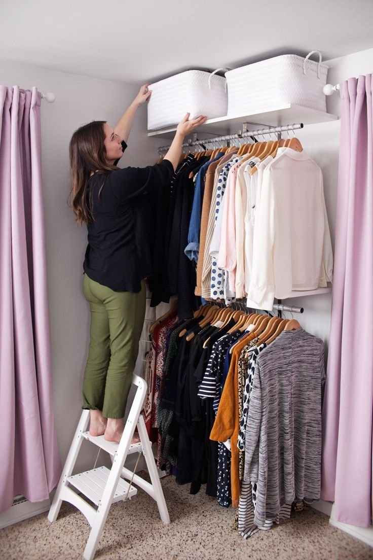 10 Pretty Closet Ideas For Small Bedrooms 354 best tiny apt tinier closet images on pinterest bedroom ideas 2020