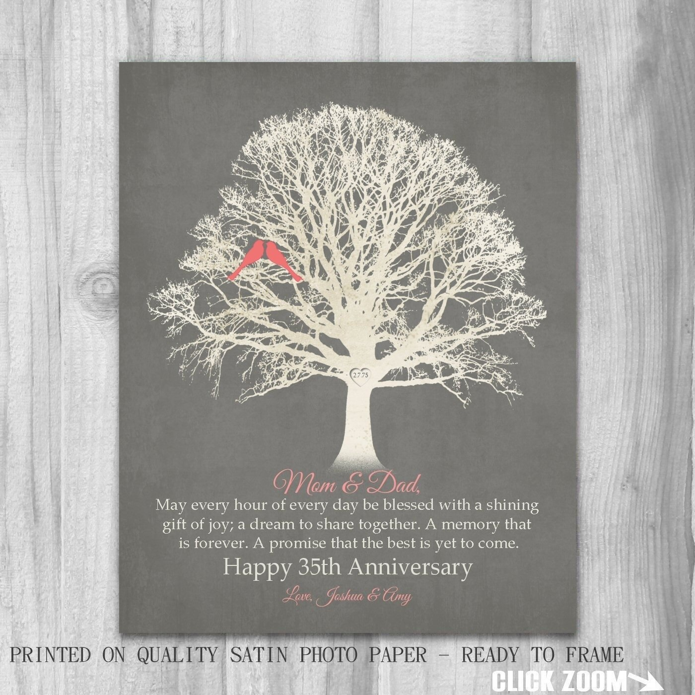 35th wedding anniversary gift ideas for parents lovely simple 35th