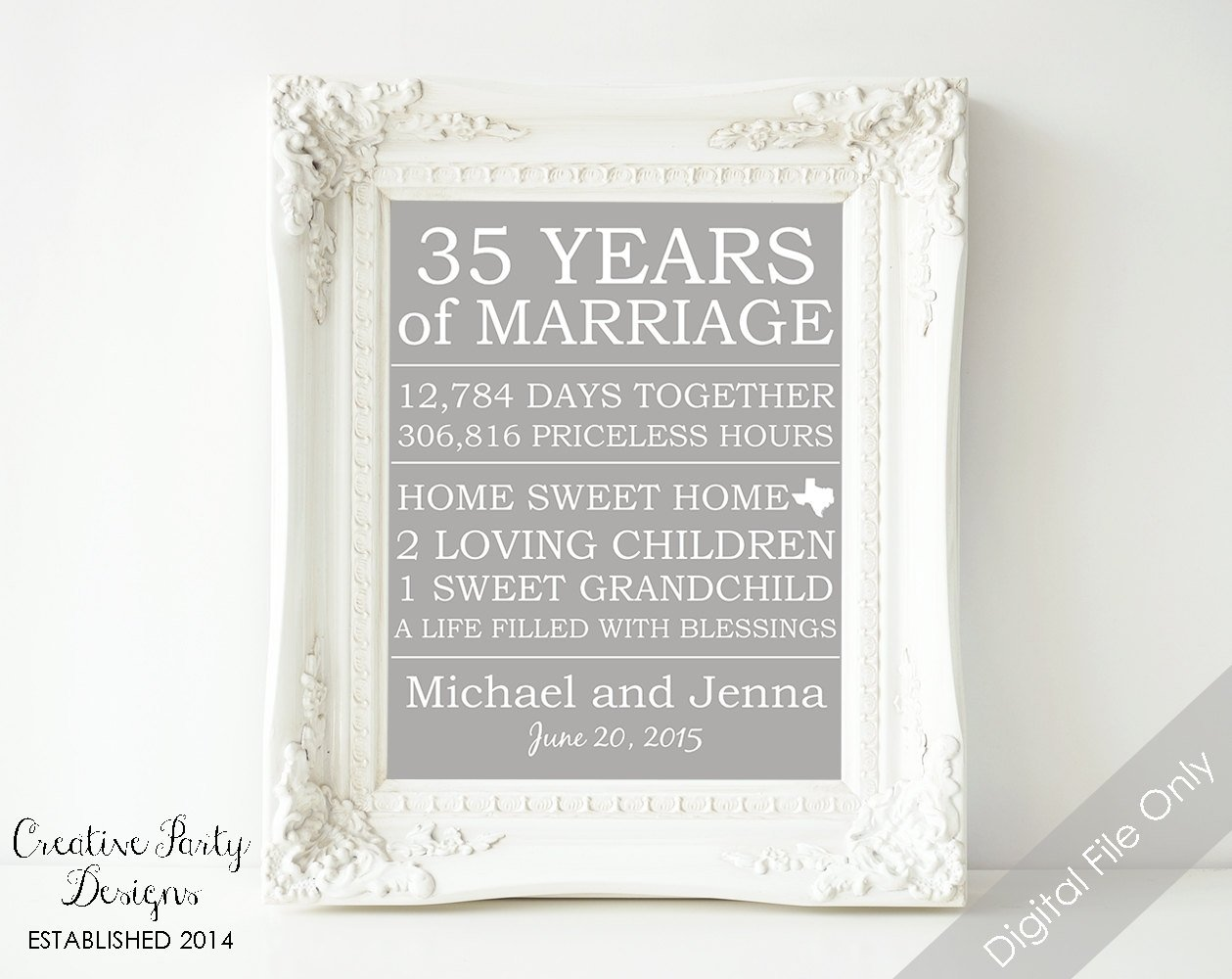 10 Pretty 35Th Wedding Anniversary Gift Ideas 35th wedding anniversary gift unique 35 wedding anniversary gift 1 2020