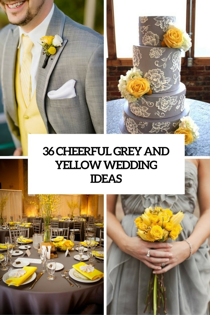 10 Cute Yellow And Gray Wedding Ideas 36 cheerful grey and yellow wedding ideas weddingomania 1