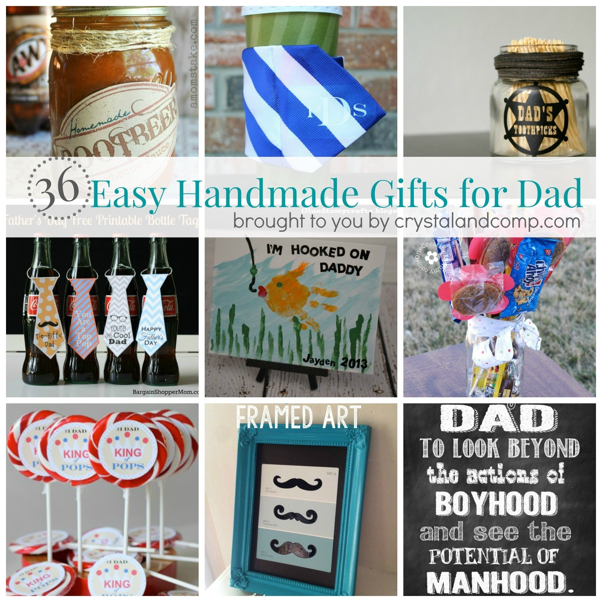 36 easy handmade gift ideas for dad | easy homemade gifts, dads and