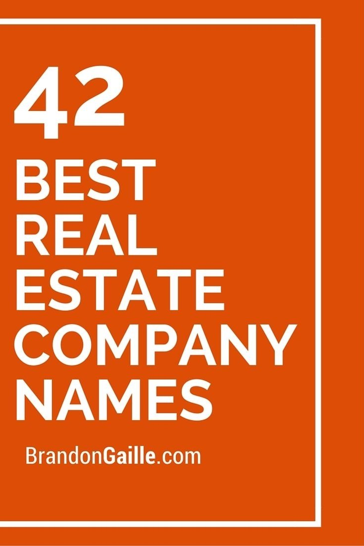 10 Beautiful Real Estate Company Names Ideas 37 catchy real estate team names real estate market trends and 1 2021